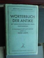 Hans Lamer: Wörterbuch der Antike mit Berücksichtigung ihres Fortwirkens 1933