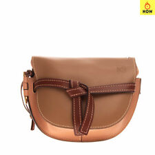 RRP €690 LOEWE Leather Saddle Clutch Bag Wristlet Slide Flap Embossed Logo