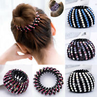 Fashion Ponytail Bun Hair Clip Crystal Rhinestone Hairpins Combs up-do Party AU