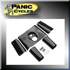 GLOSS BLACK FL FORK COVERS 5-PIECE KIT TINS FOR HARLEY SOFTAIL FLST 1986-2012