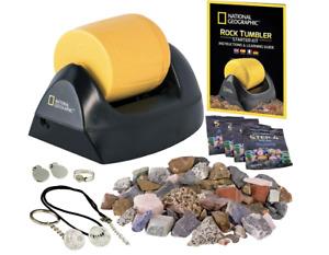 National Geographic Rock Tumbler Kit, Rock Polisher for Kids & Adults STEM