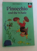 Walt Disney's Pinocchio and the Whale Hard Cover Book 1977