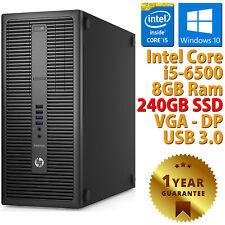 PC COMPUTER DESKTOP RICONDIZIONATO HP 800 G2 TOWER CORE i5-6500 RAM 8GB SSD 240G
