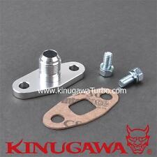 Kinugawa Billet Aluminum Turbo Oil Drain Return Flange 8 AN Garrett T3 T4 T7