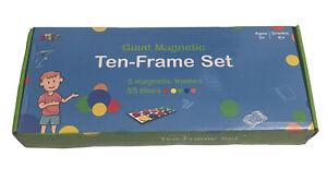 Giant Magnetic Ten Frame Set 5 Frames 55 Pieces