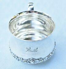 Darling Vintage RUTH Watrous Sterling Silver 58+ Grams Baby Christening Cup Mug