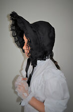 Colonial girl Black bonnet and lace gloves. History day - Book week favourite