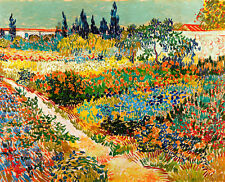 Garden at Arles by Vincent van Gogh A1 High Quality Canvas Print