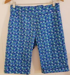 NWT Soft Surroundings Women Bermuda Shorts Small Slimsation Blue Floral  stretch