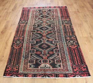 OLD WOOL HAND MADE PERSIAN  ORIENTAL FLORAL RUNNER AREA RUG CARPET 210X 110 CM