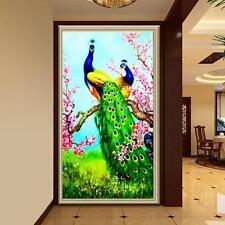5D Two Peacock DIY Diamond Embroidery Painting Cross Stitch Home Decor Craft