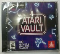 NEW ATARI VAULT 🕹️ 100Arcade & Atari2600🕹️Classic Games. PC DVD-ROM, SEALED