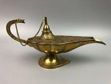Brass Aladin Aladdin Genie Oil Lamp Incense Burner