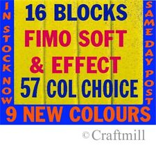 FIMO SOFT & EFFECTS Polymer Clay 16 pc 896gm PICK COLRS