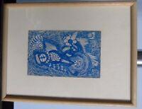 """Madge Gill, englische Art Brut Künstlerin,Federzeichnung,""""Blaue Komposition III"""""""