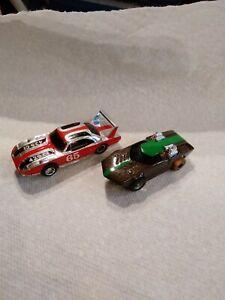2 Vintage Ho scale Slot Car Dodge super bird  and concept car