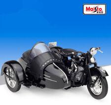 Maisto 1:18 Harley Davidson 1948 1958 FL Panhead W Sidecar Motorcycle Bike New