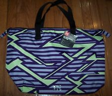 Under Armour UA Printed ON THE RUN Tote Bag PURPLE/LIME GREEN ~ NWT $40