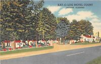 Alabama Al Postcard Linen DOTHAN Kat-O-Log Motel Court Roadside