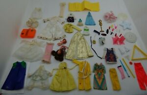 Lot Of  55 Vtg Barbie Clothes Shoes Accessories Exclusive Robe Dress 70's Shirt