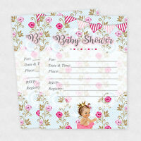 Baby Shower Invitations Girl Cards Invites Rose Pink Decorations Girl Invite 20