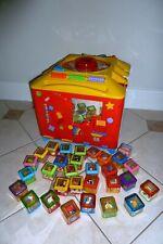Fisher Price Peek-a-Blocks IncrediBlock W/ 8 Original Peek-a-Blocks + Complete