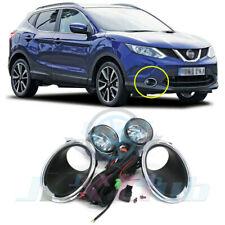 For Nissan Qashqai Rogue Sport 2014-2019 Chrome Bumper Covers Driving Fog Light