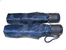 2 x BLU UOMO DONNA piccolo compatto mini da viaggio OMBRELLO - Blu colore