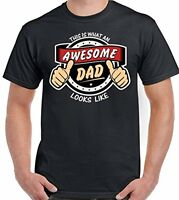 This Is What An Awesome Dad Looks Like D3 - Mens Funny  Father's Day T-Shirt