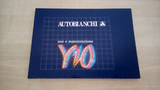 Lancia Autobianchi Y10 Libretto Manuale Uso e Manutenzione 1989 ITA