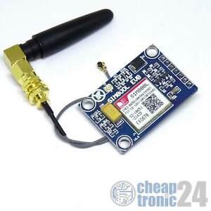 SIM800L GSM GPRS Modul incl. Antenne und Adapter Quad Band