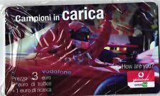 1743 SCHEDA RICARICA NUOVA IN BLISTER VODAFONE CAMPIONI IN CARICA FAC-SIMILE