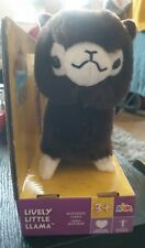 New listingPitter Patter Pets Lively Little Llama Plush Toy - Dark Brown - new