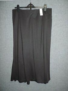Evans Paneled Midi Skirt Black UK 24 RRP £25 LN110 AF 18