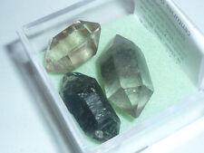 cristalloterapia PUNTE QUARZO + BOX LENTE minerale grezzo cristallo rocca fumè