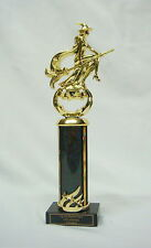 "HALLOWEEN TROPHY, COSTUME PARTY AWARD   WITCH /BROOM 5""BKCW FREE LETTERING"