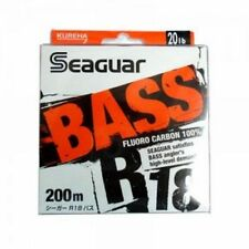 NEW Seaguar R18 Bass 200m 20lb #5 Clear 0.370mm Fluorocarbon Line Japan