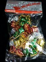 Vintage LeeWards Bag Of Wrapped Gifts Christmas Ornaments New Original Unopened