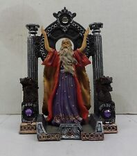 "Wizard's Lair 10"" tall Magical Sorcerer Merlin fantasy Figurine Hand Painted NEW"