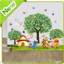 Winnie the Pooh wall stickers Zoo Animal Jungle Pépinière Chambre Bébé Art Stickers