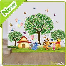 Winnie The Pooh Adesivi Da Parete Animali Dello Zoo Giungla Baby Nursery