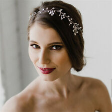 Women Delicate Crystal Rhinestone Headband Handmade Bride Tiara Romantic Wedding