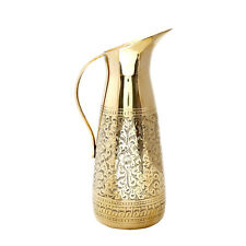 Indian Hand Crafted Karvin Brass Home & Hotel Water Serving Purpose Jug 1 Pc