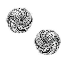 New JOHN HARDY Dot Round Twirl Earrings in Sterling Silver $450.00