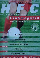 Programm 1999/00 HFC Hallescher FC - FC Zeitz