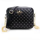 Women PU Leather Chain Handbag Shoulder Messenger Crossbody Bag Purse With Rivet