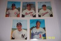 1967 Dexter Press Lot of 5 Cards RON SANTO Joe TORRE Killebrew JOE PEPITONE