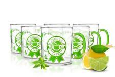 6 Teegläser 300ml mit Henkel und Motiv Teeset Teebecher Teemotiv Gläserset