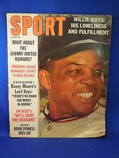 Vintage August 1963 Sport Issue Magazine Willie Mays Cover Johnny Unitas