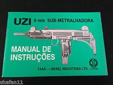Uzi Sub-Metralhadora 9mm Original IMI Manual de Instrucoes in Portuguese Spanish